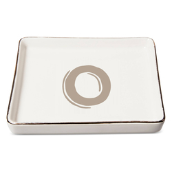 "Threshold ""O"" Monogram Ceramic Trinket Dish - White"