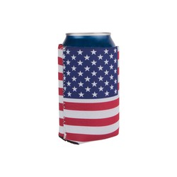 Coozie Cozy for Soda Can/Beer Bottle - American Flag Graphic