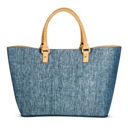 Merona Women's Chambray Tote Handbag - Blue