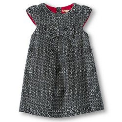 Oshkosh Toddler Girls' Woven Dress - Black/White - Size: 3T