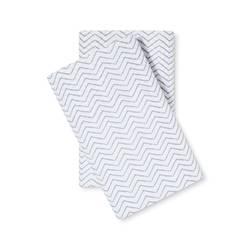 Threshold Percale Chevron Print Pillowcase Set - Gray - Size: King