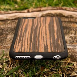 EMPIRE Embark Series Flexible Soft TPU Wood Case for iPhone 6/6S Plus - Ebony Macassar