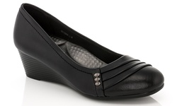 Rasolli Women's Wedge Comfort Career Shoes - Black - Size: 9