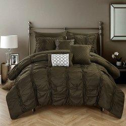 Chic Home Mori 10-Piece Comforter Set - Green - Size: King