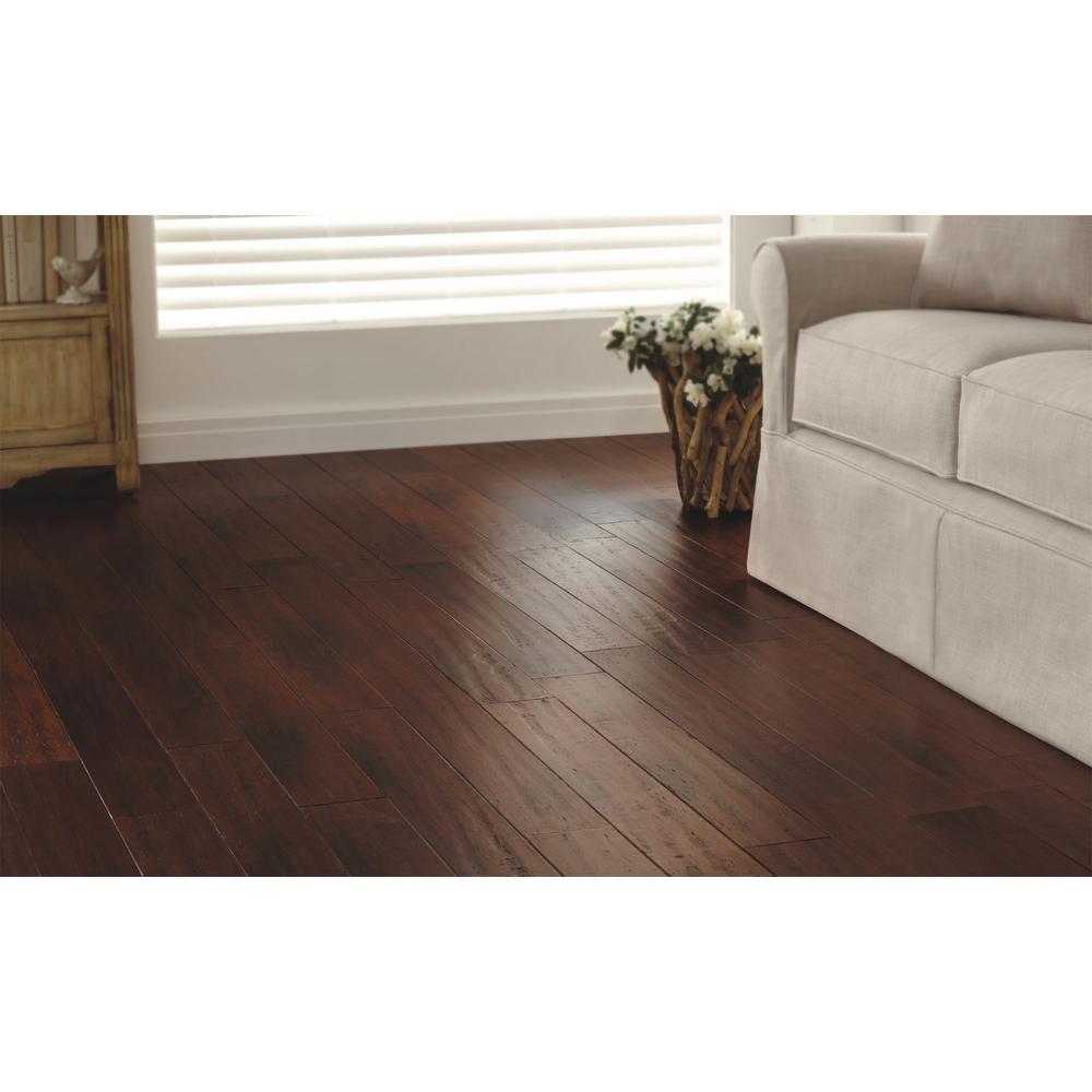 hdc strand woven bamboo hand scraped flooring brown 38x51