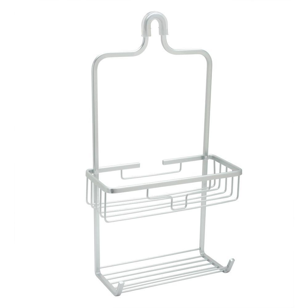 Zenna Home NeverRust Aluminum Shower Caddy w/ Bucket Shelf - Satin Chrome - Check Back Soon