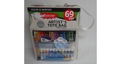Simply Daler Rowney 69-Piece Artist Canvas Tote Bag