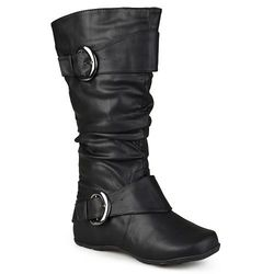Journee Collection Women's Extra Wide Calf Slouch Boots - Black - Size: 8
