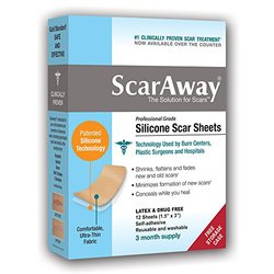 Scar Away 3 Month Supply 12 Count Silicone Scar Sheet