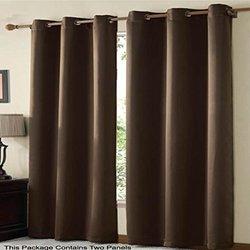 VCNY Radiance Foamback Blackout Grommet Window Panel Pair Energy Saving 38 x 84 Chocolate