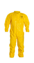 DuPont Tychem QC125B Fabric Coverall - 12 Pack - Yellow - Size: 4X-Large