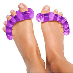 Yoga Toes Toe Stretcher & Separator - Purple - Size: Small