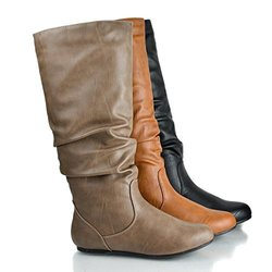 Sully'S Kalisa-04N Slouch Boots, Taupe Pu, 8.5