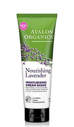 Avalon Organics Cream Shave, Moisturizing, Lavender, 8-Ounces (Pack of 3)
