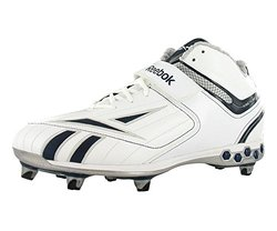 Reebok Pro Full Blitz Men's Football Shoes - White/Silver/Navy-sIZE: 11.5