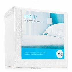 LUCID Premium Hypoallergenic 100% Waterproof Vinyl Free Mattress Protector, King