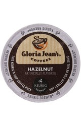 Gloria Jean's Coffees K-cup for Keurig Brewers - Hazelnut Coffee - 96 CT