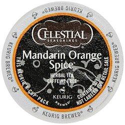 Horarary Celestial Seasonings Mandarin Orange Spice Herbal Tea K-Cup