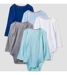 Gerber Onesies Baby Full Sleeve Bodysuit Set - Navy - Size: 0-3 Months