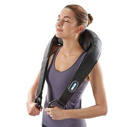 Cordless Shiatsu Neck & Back Massager with Heat - Black
