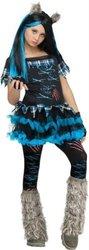 DC Polka Girl's Dot Monster Costume - Multi - Size: L(12-14)