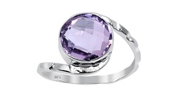 Women's 3.20 CTW Amethyst sterling silver ring - Pink (OJR-3461)