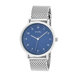 Simplify Men's Watches The 3200 Collection: 3203/silver Band-blue Dial