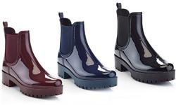 Henry Ferrera Forecast-100 Women's Rain Boots - Burgundy - Size: 10