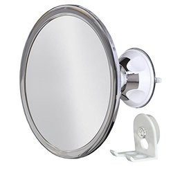 No Fog Shower Mirror With Rotating, Locking Suction; With Bonus Separate Razor Holder   Next Step In Shaving Mirror Technology   Adjustable Arm For Easy Positioning   Best Personal Mirror For Shaving You Will Ever Buy! Ideal Travel Mirror