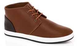 Adolfo Men's Edward-2 Hi-Top Sneakers  - Tan - Size: 9