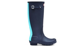 Hunter Women's Tall Rain Boot - Stripe Midnight Sky - Size: 5