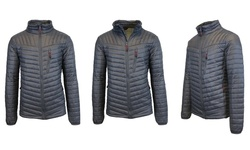 Spire by Galaxy Men's Lightweight Puffer Jacket - Charcoal - Size: XL