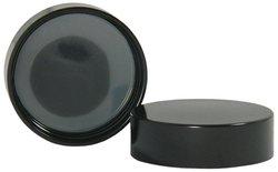 Qorpak Phenolic Cap with Solid Polyethylene Liner - Black