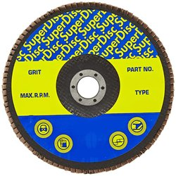 Sundisc Type 29 Standard Density Abrasive Super Flap Disc 8600 Rpm 5 Pks