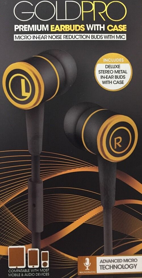 34dfe05c7b1 Sentry Gold Pro Deluxe Ear Buds - Black/Gold - Check Back Soon - BLINQ