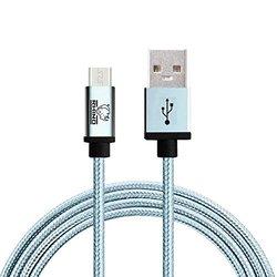 Rhino Nylon Braided Micro USB Data Sync Charging Cable - Blue - 10FT