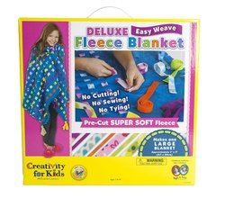 Faber-Castell Creativity for Kids Deluxe Easy Weave Fleece Blanket Playset