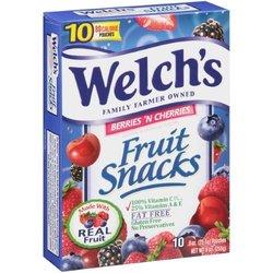 Welch's Fruit Snacks Berries N Cherries - 9Oz