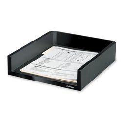 "Fellowes Designer Suites Letter Tray-Letter Tray - Black - 11-1/8""x13""x2-1/2"""