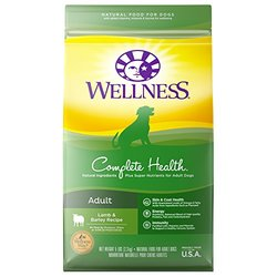 Wellness Complete Health Natural Dry Dog Food - Lamb & Barley - 5 Lbs
