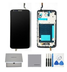LCD Touch Digitizer Screen & Frame Replacement for LG Optimus G2 - Black