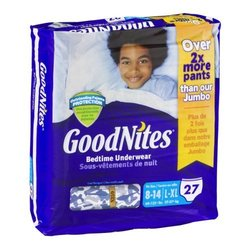 Goodnites 27-count Bedtime Underwear for Boys - L/XL (8-14) - Pack of 3