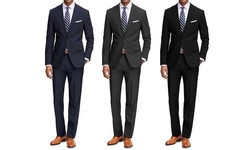 Braveman Men's 2-Piece Classic Fit Suit - Navy - Size: 42 L x 36 W