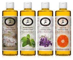 Castile Soap Variety Pack - 4 - 16 Oz Bottles - Carolina Castile