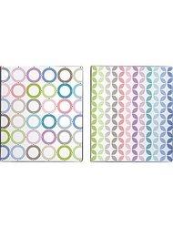 "1"" Pattern Play Vinyl Binder, Striped Design"