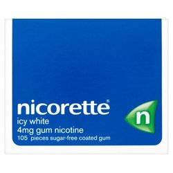 Nicorette Icy White 4mg Nicotine Chewing Gum - 105 count