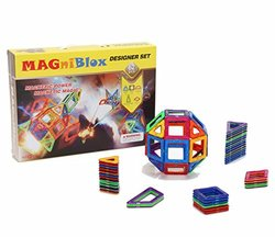 MAGniBlox 62-Piece Magnetic Double Sided Building Tiles for Toddlers