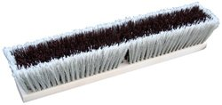 """Zephyr 39524 Combo/Strand Push Broom, 24"""" Head Width, Red and Grey (Case of 12)"""