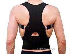 EBP Medical Unisex Fully Adjustable Back Brace - Black - Size: Large