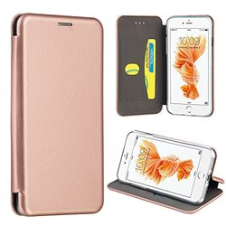 APPLE IPHONE 7 PLUS SPLENDID LEATHER FLIP WALLET CASE WITH CARD HOLDERS - ROSE GOLD
